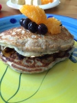 Blueberry pancakes with Healtheries Ground Black Chia Seeds.