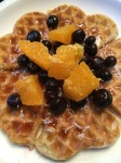 Overnight waffles with Healtheries Balck Chia Seeds.