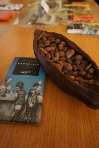 Look at all those cocoa beans.