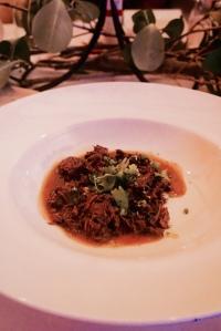 Aliter Haedinam Sive Agninamex Caldatam. Hot goat stew with coriander, cumin and liquamen.